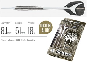 Šipky Harrows soft Silver Shark A 18g