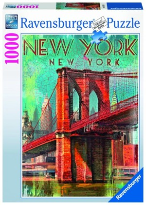 PUZZLE Ravensburger - Retro New York 1000 dílků